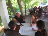 Working in small groups on a SWOT analysis of Spaç prison | Punë në grup - analiza SWOT mbi gjëndjen në Spaç
