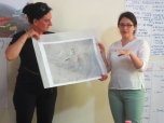 Presenting the 'mind maps' that each small group produced | Prezantimi i hartave mendore të përpiluara nga secili grup