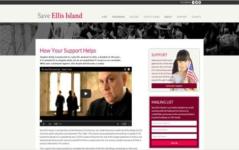 Save Ellis Island fund-raises for the preservation of the entire island complex.