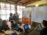 Marsela Karpuzi from MZHUT presents her group's results from the values analysis | Marsela Karpuzi nga MZHUT prezanton rezultat e grupit të saj për ushtrimit të analizës së vlerave