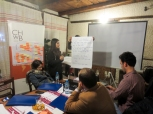 Dafne Bajraktari presents the vision statements formed by her group | Dafne Bajraktari prezanton deklaratat e vizionimit të formuluara nga grupi i saj