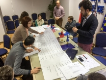Moments during the drafting of the action plan. | Momente nga hartimi i plan-veprimit.