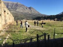 Within the abandoned, almost-destroyed space of the former prison camp at Bënça, near Tepelena. | Në brendësi të hapësirës së braktisur dhe pothuajse të rrënuar të ish-burgut të Bënçës, afër Tepelenës.