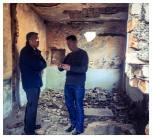 Ambassador Lu with local resident Gjetë Gjoni at Spaç Prison